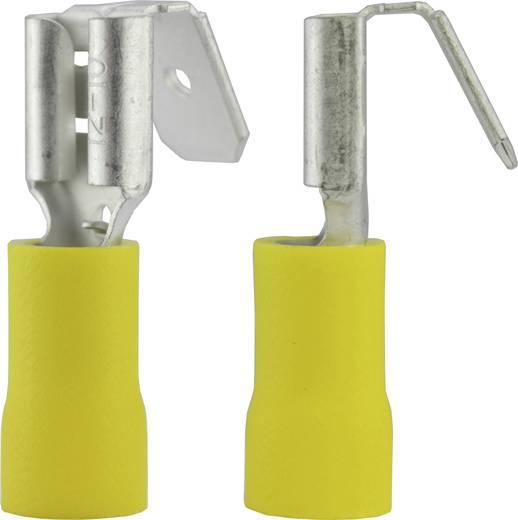 Lapos csúszósaru hüvely, elosztós, 6,3 x 0,8 mm, részlegesen szigetelt, sárga, Vogt Verbindungstechnik 3933S