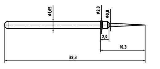 Mérőhegy, rugóérintkezős mérőtüske PTR 2021-BST-1.5N-NI-0.8