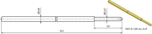 Mérőhegy, rugóérintkezős mérőtüske PTR 1007-D-0.7N-AU-0.5