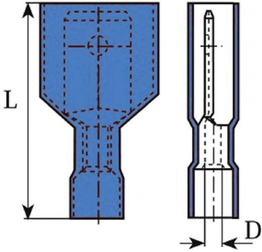 Csúszósaru dugó 6.3X0.8 mm kék Vogt Verbindungstechnik 3970
