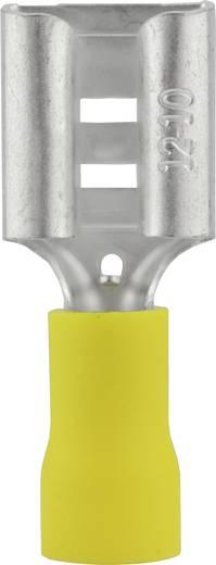 Lapos csúszósaru hüvely 9,5 x 1,2 mm, részlegesen szigetelt, sárga, Vogt Verbindungstechnik 3914