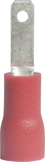 Laposérintkezős dugó, szigetelt piros 2.8X0.5 mm Vogt Verbindungstechnik 391305S