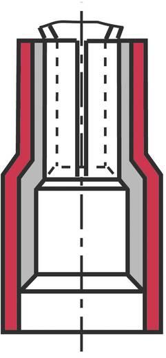 Lapos csúszósaru hüvely, elosztós, 6,3 x 0,8 mm, részlegesen szigetelt, piros, Vogt Verbindungstechnik 3925