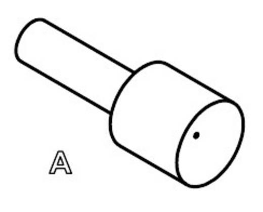 Mérőhegy, rugóérintkezős mérőtüske PTR 1040-A-1.5N-NI-4.0