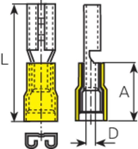 Lapos csúszósaru hüvely 6,3 x 0,8 mm, részlegesen szigetelt, sárga, Vogt Verbindungstechnik 3907S