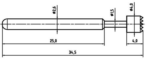 Mérőhegy, rugóérintkezős mérőtüske PTR 1040-C-1.5N-NI-4.0