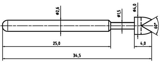 Mérőhegy, rugóérintkezős mérőtüske PTR 1040-G-1.5N-NI-4.0