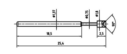 Mérőhegy, rugóérintkezős mérőtüske PTR 1015-A-0.7N-AU-1.8