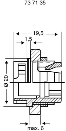 PREH beépíthető lengő alj bajonettzárhoz 6 pólusú