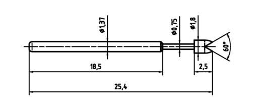 Mérőhegy, rugóérintkezős mérőtüske PTR 1015-G-0.7N-AU-1.8