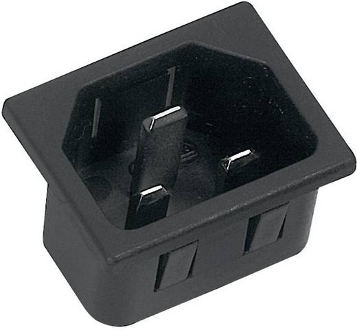 Beépíthető hálózati műszercsatlakozó dugó, függőleges, 3 pól., 16 A, fekete, C20, K&B 42R073121150