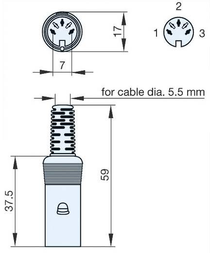 DIN kerek csatlakozóhüvely Alj, egyenes Pólusszám: 3 Szürke Hirschmann MAK 30 S 1 db