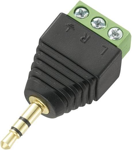 Jack csatlakozó, 3,5 mm dugó, egyenes pólusszám: 3 Sztereo fekete Tru Components LT-PJ-3.5 1 db
