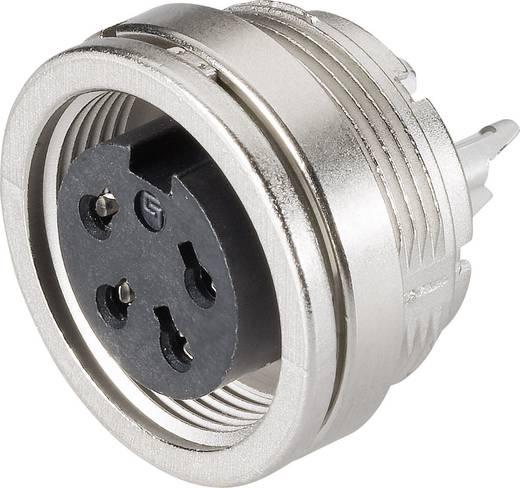 Miniatűr kerek dugaszolható csatlakozó 581 és 680 sorozat Pólusszám: 4 Peremes csatlakozó aljzat 6 A 09-0312-00-04 Binder 1 db