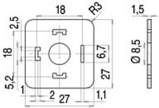 Lapos tömítés mágnesszelep csatlakozóhoz, A kivitel, 210-es sorozat Bézs 16-8085-000 Binder Tartalom: 1 db
