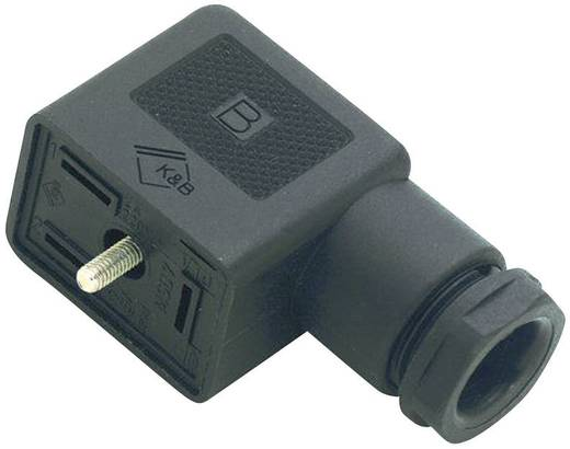 Mágnesszelep csatlakozó, B kivitel, 225-ös sorozat Fekete 43-1830-000-03 Pólusszám:2 + PE Binder Tartalom: 1 db