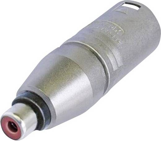 XLR adapter XLR dugó - RCA alj, Neutrik NA2MPMF, 1 db