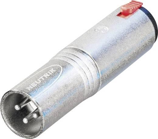 XLR adapter XLR dugó – Sztereo, Neutrik NA3MJ, 1 db