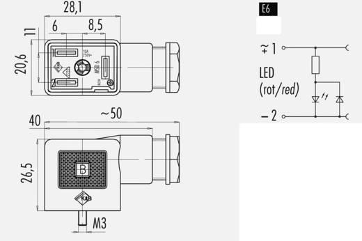 Mágnesszelep csatlakozó, B kivitel, 225-ös sorozat Átlátszó 43-1834-135-03 Pólusszám:2 + PE Binder Tartalom: 1 db