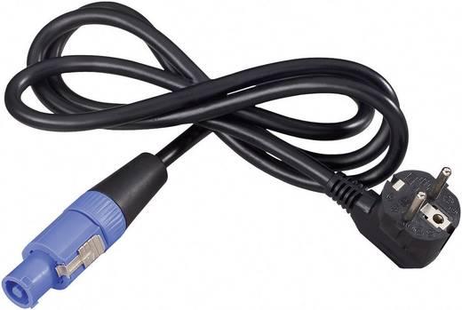 Hálózati csatlakozókábel PowerCon alj - Védőérintkezős hajlított dugó, pólusszám: 3, fekete, Neutrik NKFCA15SRC, 1,5 m