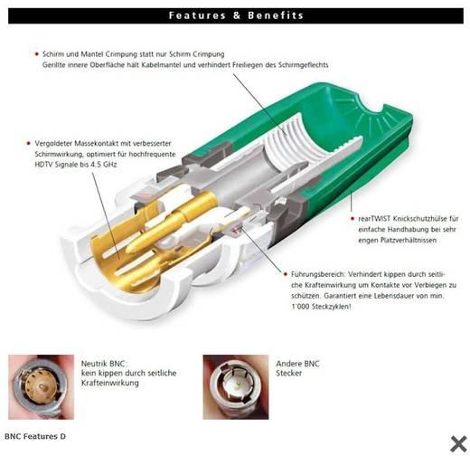 RearTwist® BNC dugó, krimpelhető, egyenes, nikkelezett PA6, NBLC 75 BVZ 17