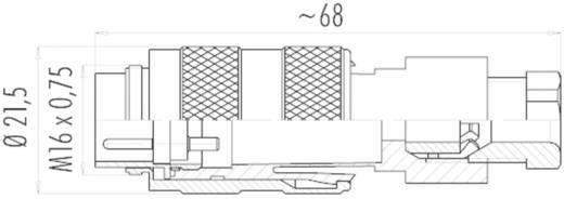 Miniatűr dugaszolható csatlakozó, 723-as sorozat Pólusszám: 6 DIN kábeldugó 5 A 09-0121-25-06 Binder 1 db