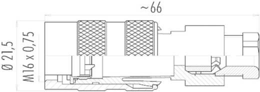 Miniatűr dugaszolható csatlakozó, 723-as sorozat Pólusszám: 3 DIN kábeldugó 7 A 09-0106-25-03 Binder 1 db