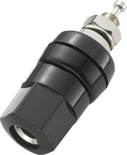 4 mm-es szigetelt póluscatlakozó, banándugó aljzat 30A fekete színben