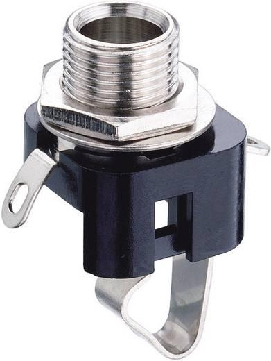 Jack beépíthető csatlakozóaljzat, 6,35 MM 2 pólusú, KLBM3