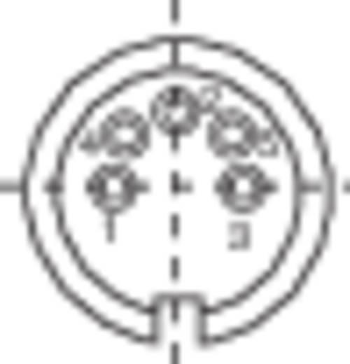 Miniatűr kerek készülék csatlakozó dugó, 5 pól., 6 A, Binder 581-99-2018-00-05