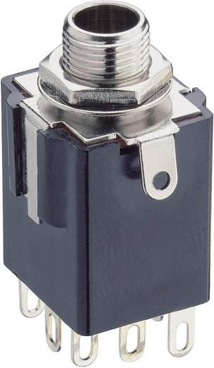 Lumberg előlapra szerelhető 6,35 mm sztereo jack aljzat, KLBSS 3