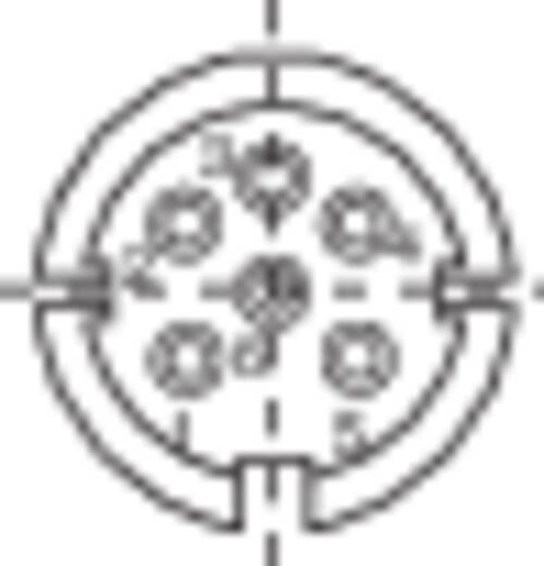 Kerek csatlakozó beépíthető dugó 6 pólusú, Binder 09-0323-00-06