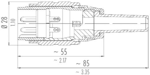 Beépíthető csatlakozó 3 pol.. 250 V 10 A, Binder 691-09-0036-00-03