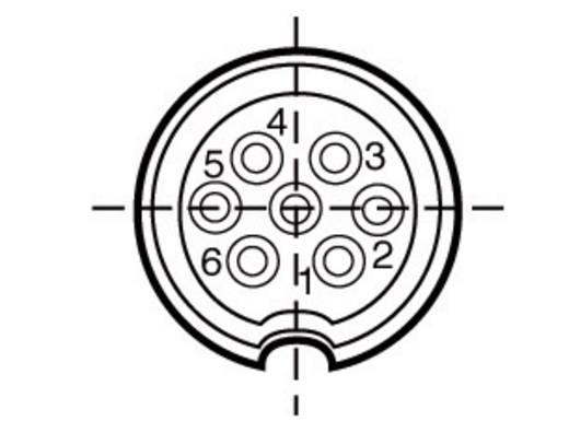Kábelcsatlakozó 7 pol.. 250 V 5 A, Binder 691-09-0041-00-07