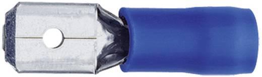 Laposérintkezős dugó, 4,8 mm / 0,5 mm 180°, részlegesen szigetelt, kék Klauke 8302B