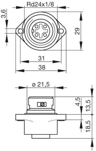 Beépíthető műszercsatlakozó dugó hálózati feszültséghez 3+PE pólusú CA sorozat 932 321-100 Hirschmann