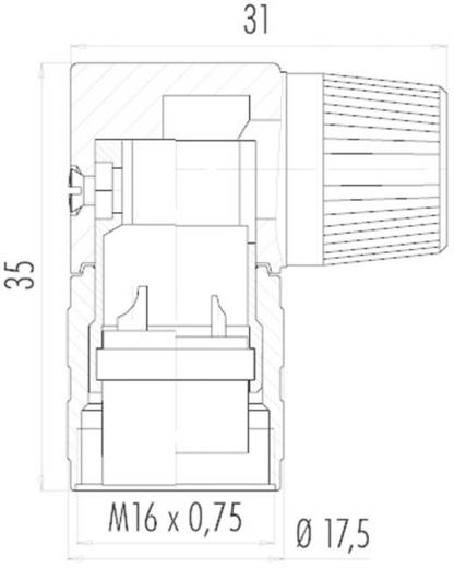Miniatűr kerek dugaszolható csatlakozó 682-es sorozat Pólusszám: 3 DIN Kábeldugó 7 A 09-0136-70-03 Binder