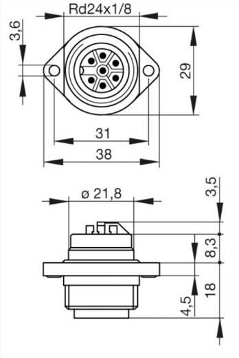 Beépíthető műszercsatlakozó dugó hálózati feszültséghez 6+PE pólusú CA sorozat 932 326-100 Hirschmann