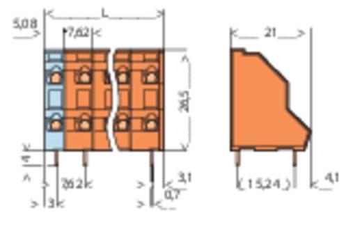 Nyáklap kapocs, 736-os sorozat Raszterméret: 7.62 mm Pólusszám: 2 WAGO 736-602 Tartalom: 1 db