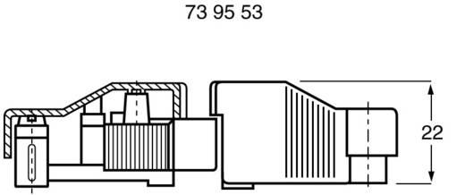 Védőgalléros szorítós csatlakozó dugó 3 polusú