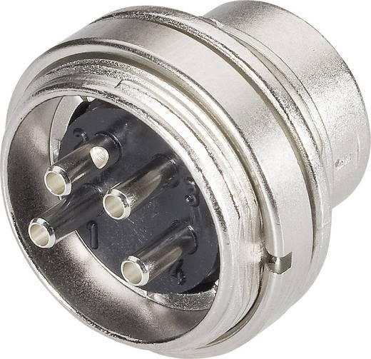 Beépíthető miniatűr kerek készülék csatlakozó alj, 5 pól., 6 A, Binder 680-09-0315-00-05