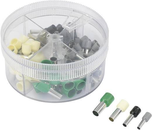 Érvéghüvely készlet, 4 mm² 16 mm² szürke, fekete, elefántcsont szín, zöld, Conrad 93014c614 100 db