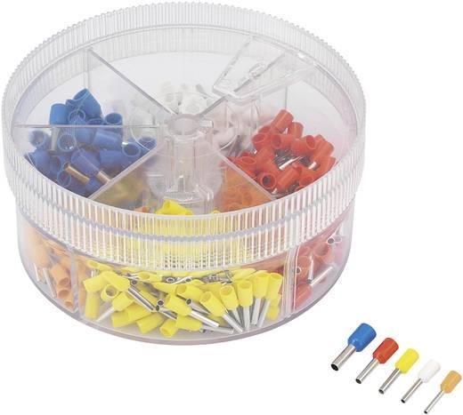 Érvéghüvely készlet, 0.5 mm² 2.5 mm² narancssárga, fehér, sárga, piros, kék Conrad 93014c615 400 db