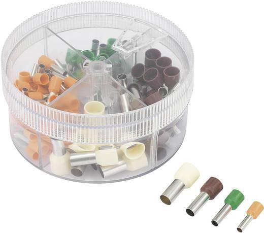 Érvéghüvely készlet, 4 mm² 16 mm² narancssárga, zöld, barna, kék, Conrad 93014c616 100 db