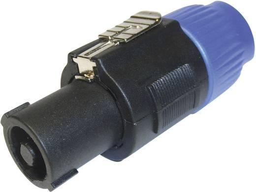 Hangszóró csatlakozó dugó, egyenes pólusszám: 4 fekete, kék Cliff FM1250 1 db