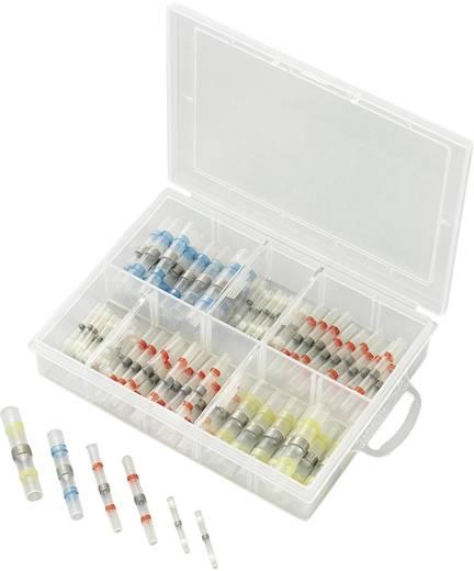 Roppantós kábelsaru készlet 2.27 mm² 28 mm², fehér, piros, kék, sárga, Conrad 93014C316, 90 db