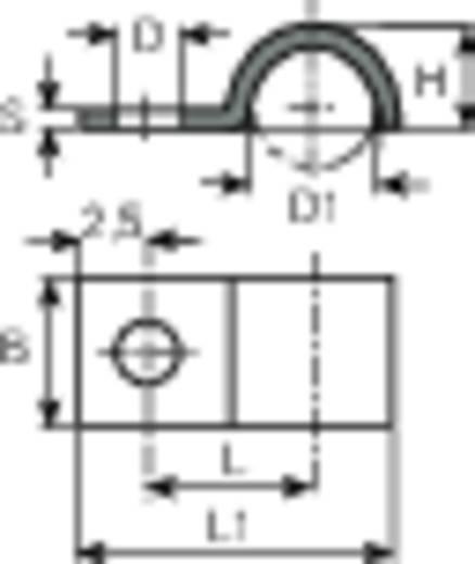 Kábelrögzítő bilincs, Köteg Ø: 3 mm 5118.99 Ónozott Vogt Verbindungstechnik, tartalom: 1 db