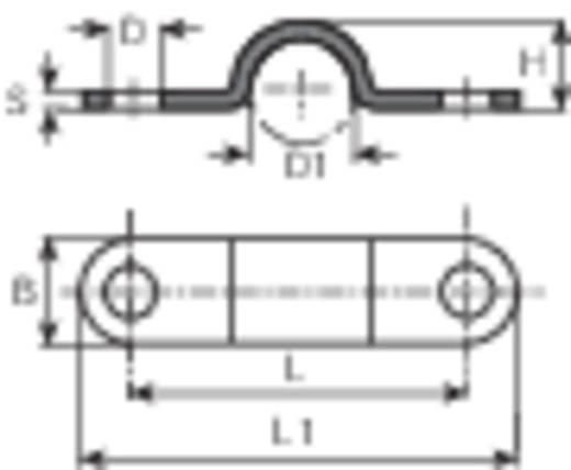 Kábelrögzítő bilincs, Köteg Ø: 4.5 mm 5120a.99 Ónozott Vogt Verbindungstechnik, tartalom: 1 db