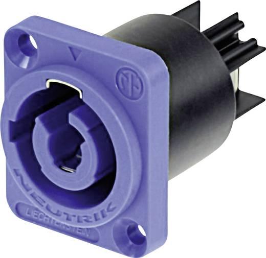 Hálózati csatlakozó dugó, beépíthető, függőleges, pólusszám: 3 20 A, kék Neutrik NAC3MPA