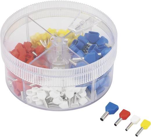 Iker érvéghüvely készlet, 0.75 mm² 2.5 mm² fehér, sárga, piros, kék Conrad 93014c620 200 db